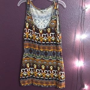 Multicolored printed design tank top